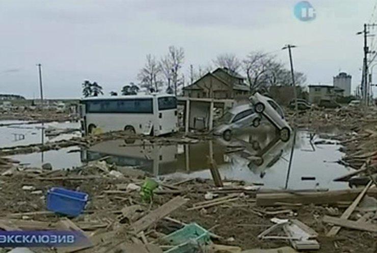 Цунами в Японии разрушило некоторые города до основания