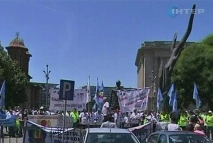 Румынские полицейские начали забастовку