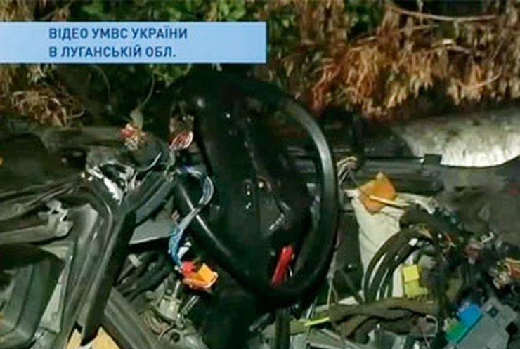 Водитель перевернувшейся в Луганской области машины был нетрезв