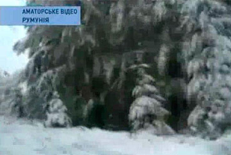 Румынию засыпало снегом