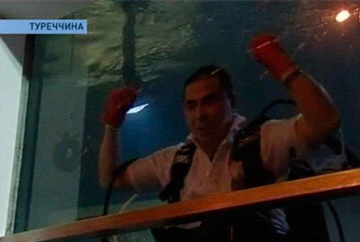 Турецкий дайвер провел под водой 8 дней