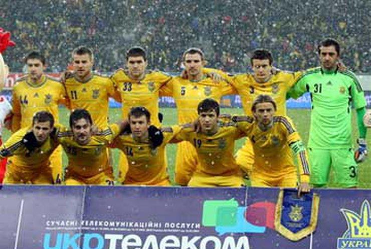 Исполнением гимна Украины болельщики вдохновили Блохина и футболистов сборной