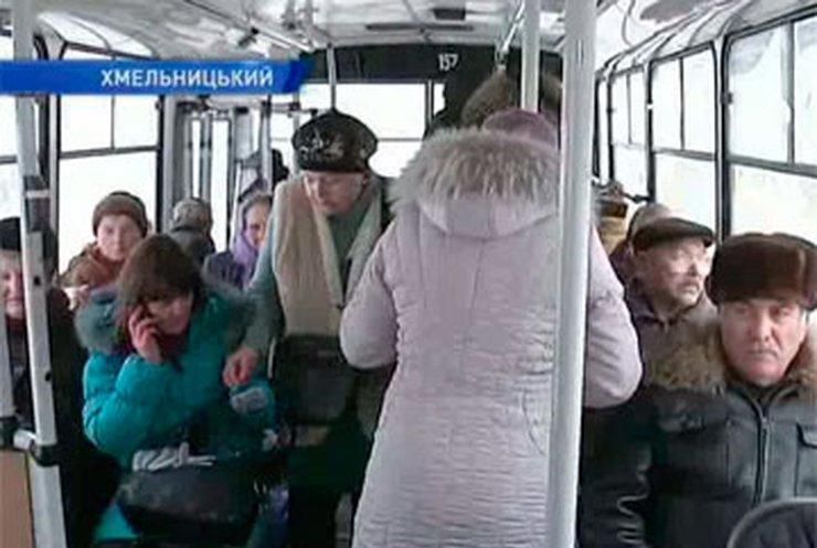 Троллейбусы Хмельницкого оборудуют обогревателями