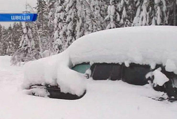 В Швеции мужчина два месяца провел в засыпанной снегом машине