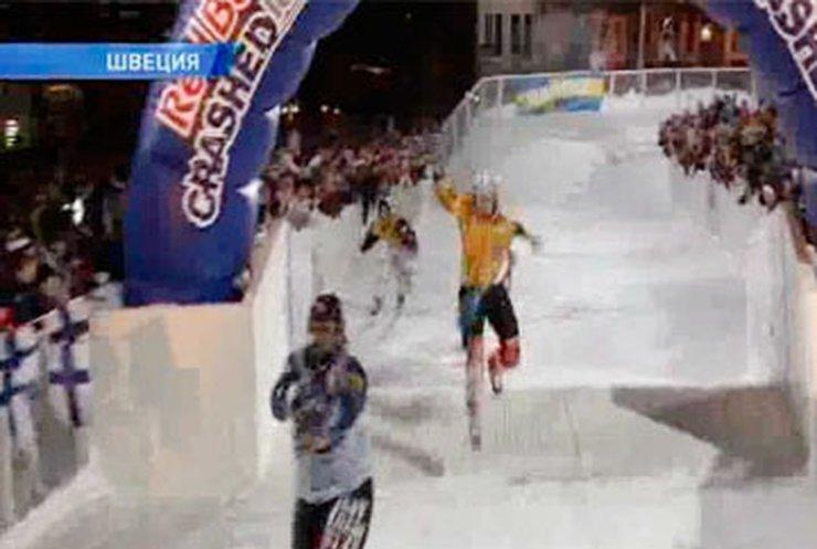 В Швеции прошел чемпионат по ледовому кроссу
