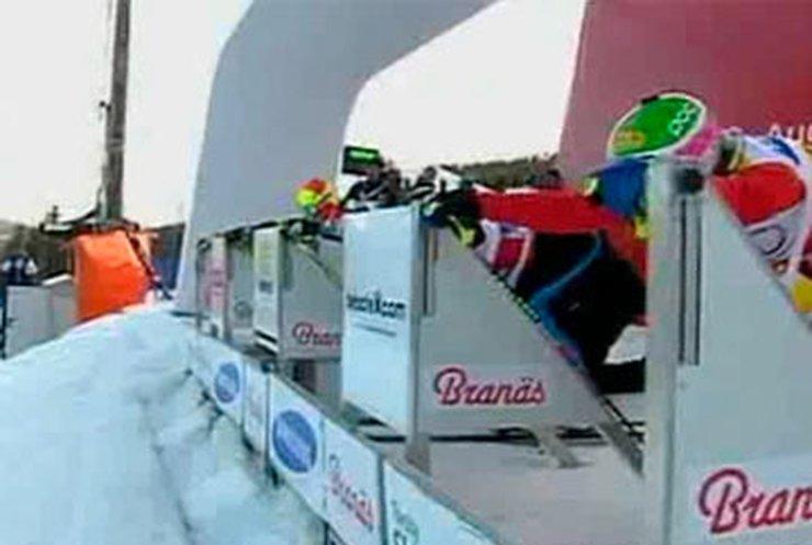 В Швеции прошли соревнования по ски-кроссу
