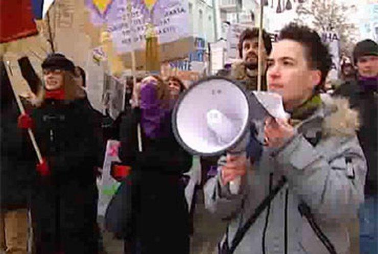 Женщины снова борются за свои права в центре Киева  10f07f37bea72