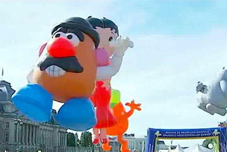 В Брюсселе прошел ежегодный парад воздушных шаров