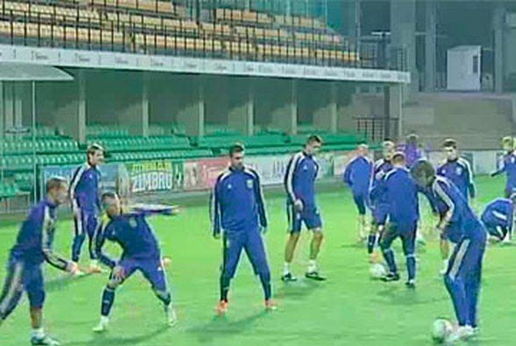 Украинские футболисты провели тренировку в Кишиневе