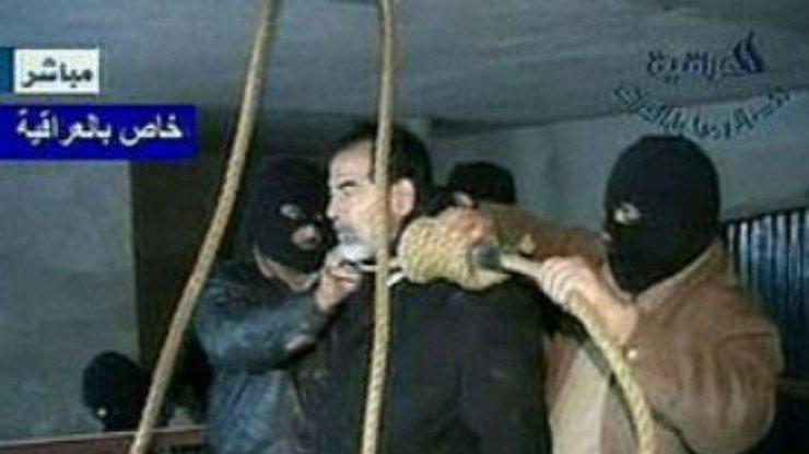 фото саддама хусейна казнь