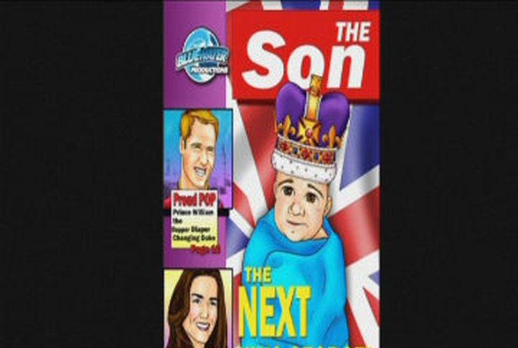 Британцы выпустили комикс о королевском младенце