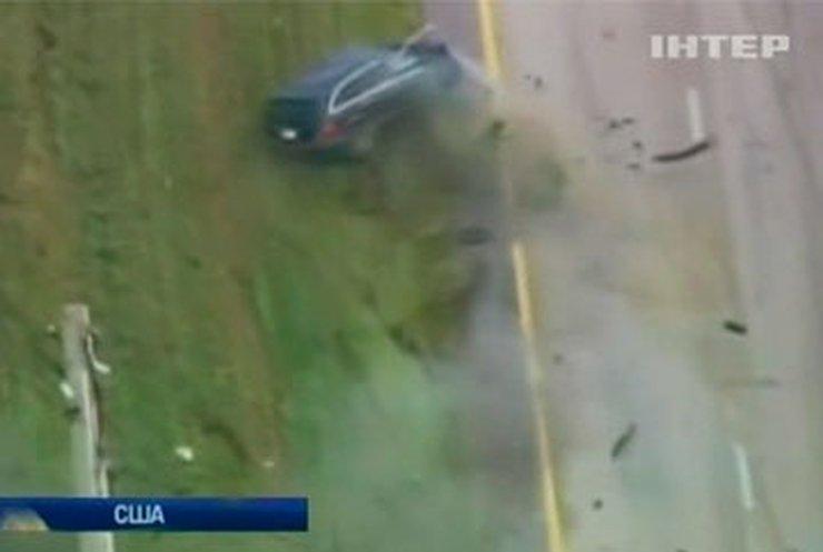 Во Флориде преступник устроил гонки с полицией на автостраде