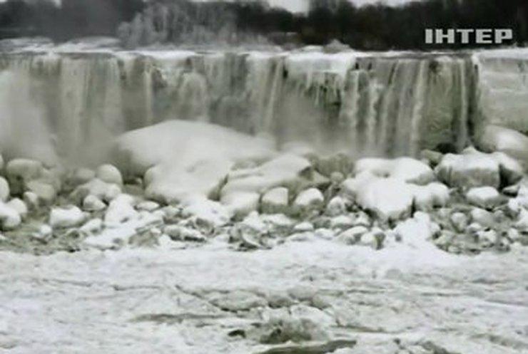 Ниагарский водопад не выдержал зимы и замерз