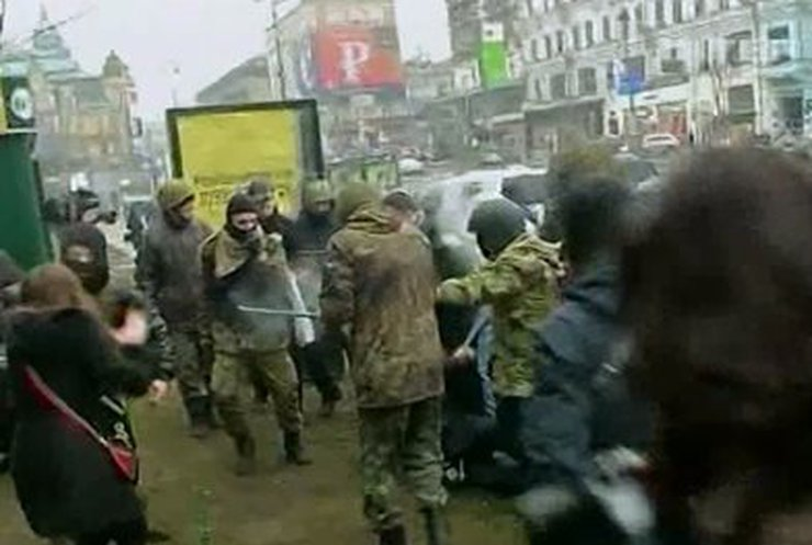 На Майдане подрались активисты