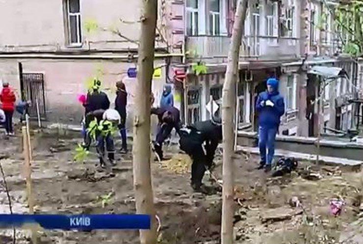 Жители многоэтажек вблизи Майдана решили соорудить сквер имени Небесной сотни