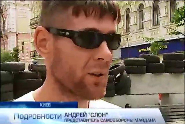 Новоявленный лидер Майдана отличился нападением на журналистов (видео)