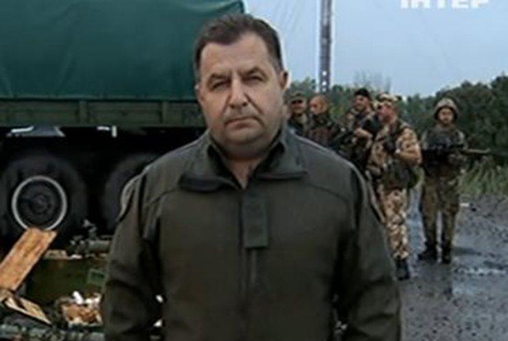 Командир Нацгвардии Степан Полторак показал оружие из России (видео)