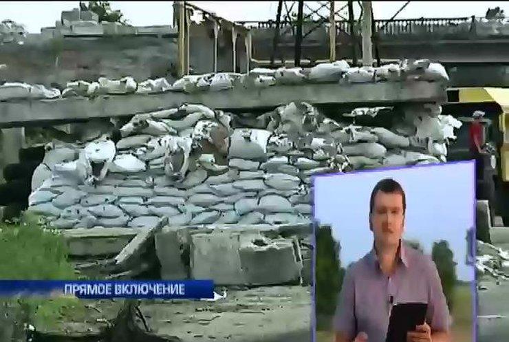 """Журналисты """"Подробностей"""" чуть не подорвались на растяжке в Северодонецке (видео)"""