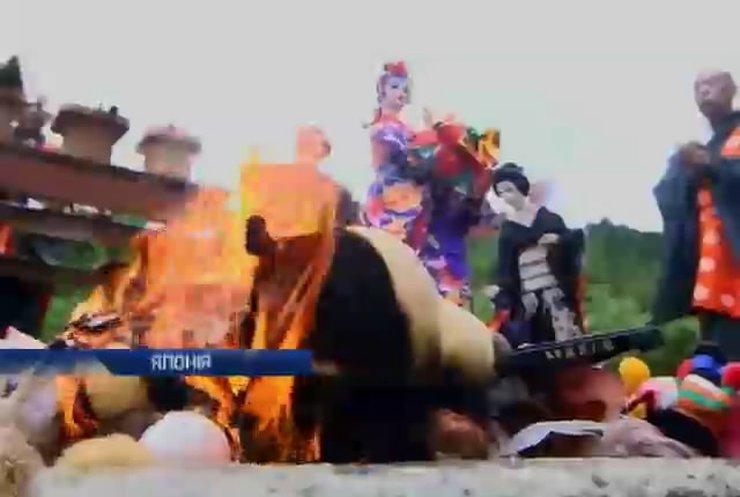 Японці простилися з дитинством та спалили іграшки (відео)