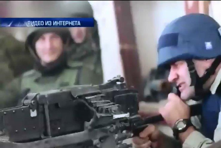 Пореченков подставил журналистов, стреляя по украинским военным (видео)