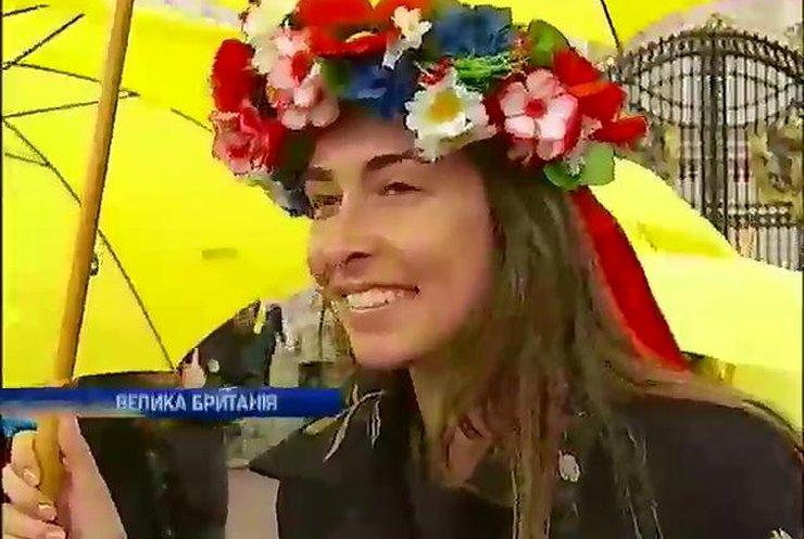 У Лондоні пройшов міжнародний флешмоб на підтримку України (відео)