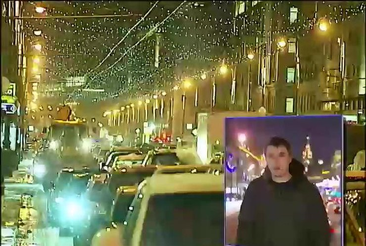 Снег в Москве вызвал транспортный коллапс (видео)