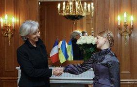Украинский премьер и министр экономики, промышленности и занятости Франции Кристин Лагард.