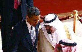 Саудовский король Абдула и президент США Барак Обама
