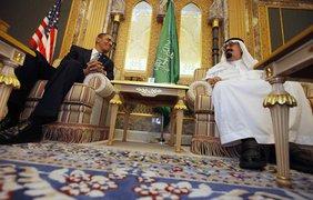 Король Абдула и Барак Обама