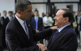 Президент США Барак Обама и премьер Италии Сильвио Берлускони