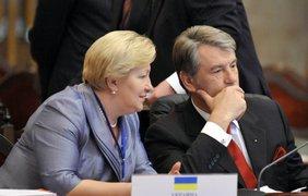 Виктор Ющенко и глава Секретариата президента Вера Ульянченко