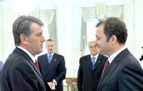 Виктор Ющенко и премьер Молдовы Влад Филат