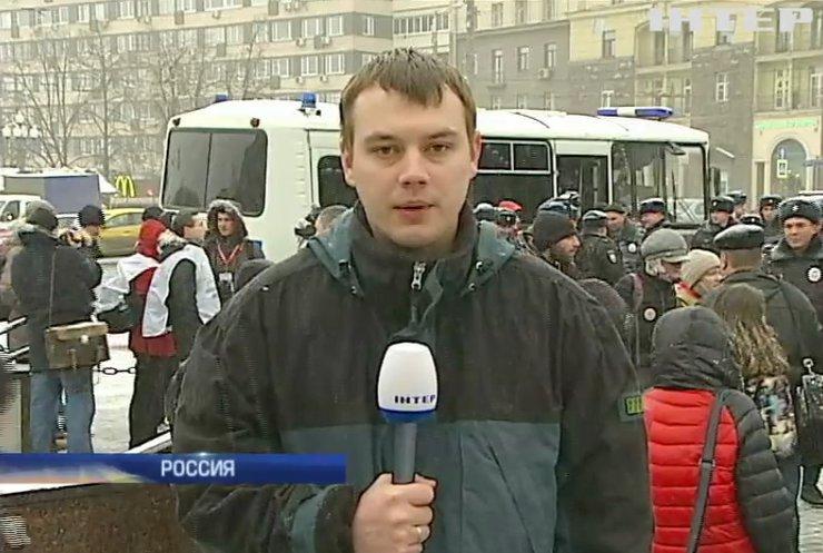 На марше в Москве задержали оппозиционеров и приверженцев Путина