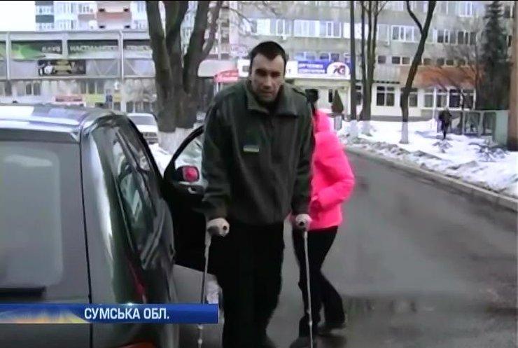 Сумщина зістручала бійця з лікування в Естонії