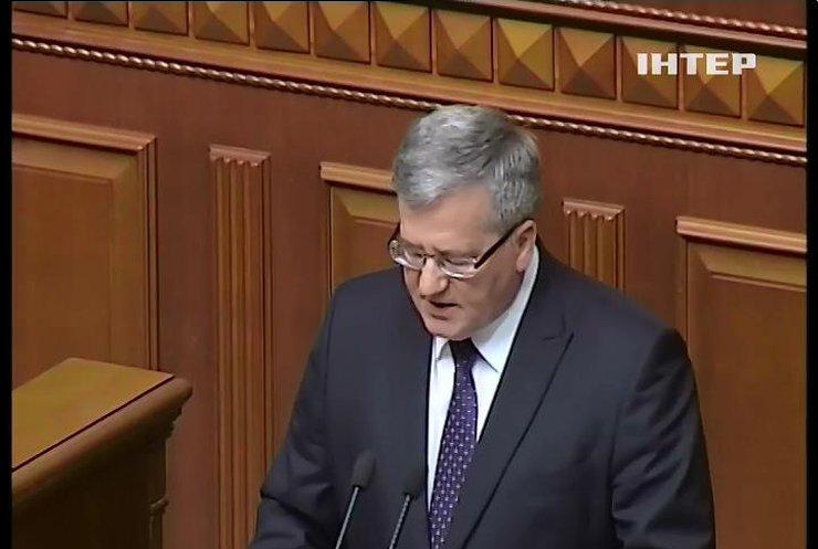 У Раді депутати з президентом Польщі заспівали гімн