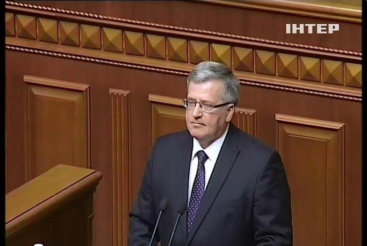 Броніслав Коморовський закликав Україну проводити реформи