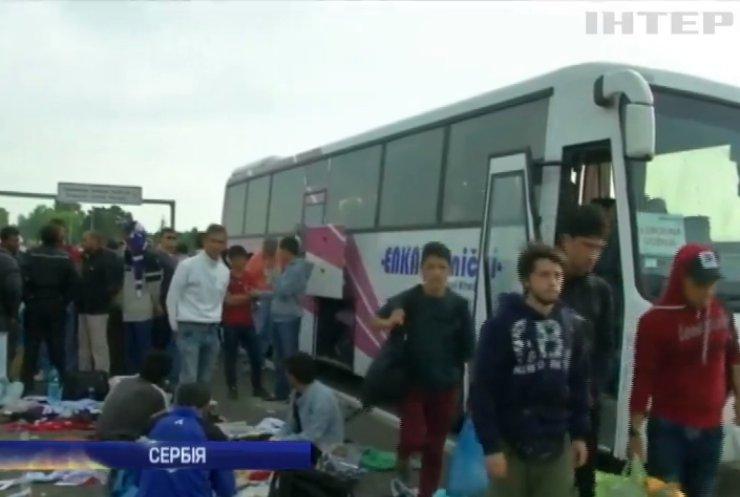Мігранти массово тікають із Сербії до Хорватії на автобусах
