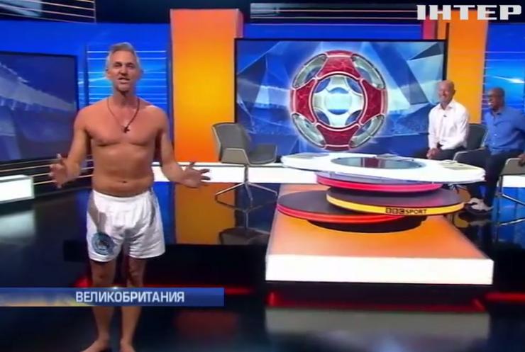 Спортивный ведущий разделся до трусов в прямом эфире (видео)