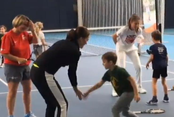 Вагітна Кейт Мідлтон провела майстер-клас із тенісу
