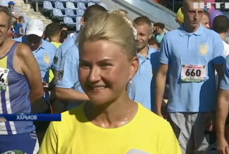 Глава Харьковской облгосадминистрации совместно с харьковчанами пробежала марафон в честь Дня города