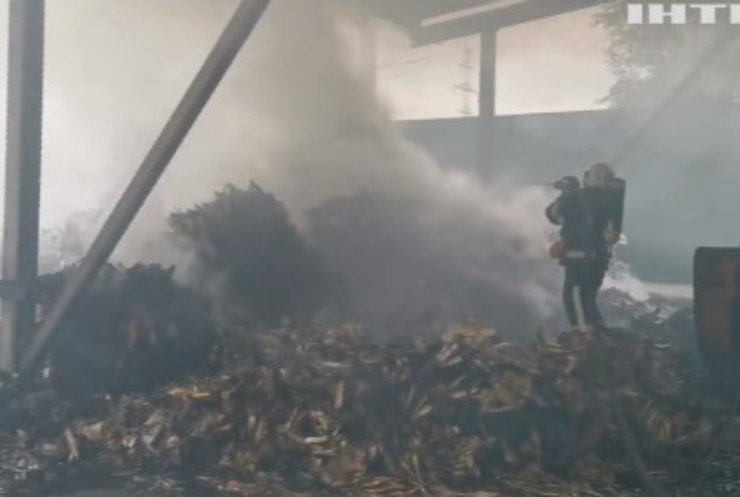В Обухові спалахнула пожежа на підприємстві