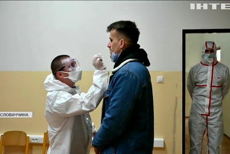 Доросле населення Словаччини масово перевірять на коронавірус