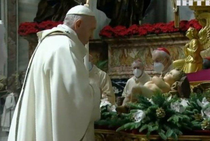 Папа Римський Франциск відслужив Різдвяну месу