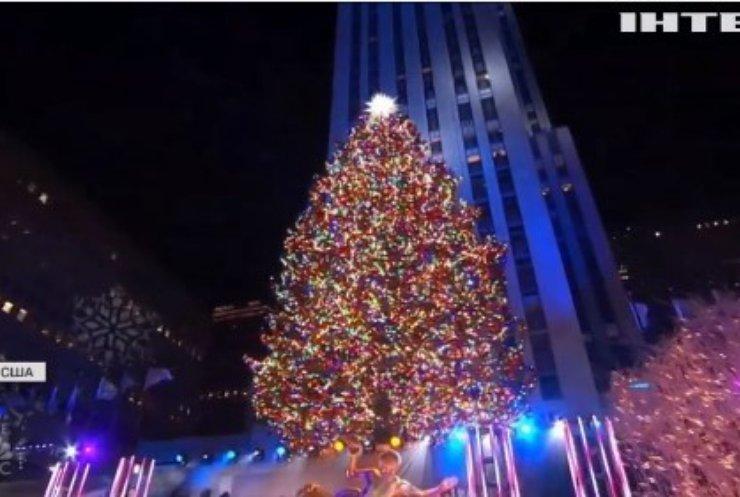У Нью-Йорку відбулась церемонія запалення вогнів новорічної ялинки