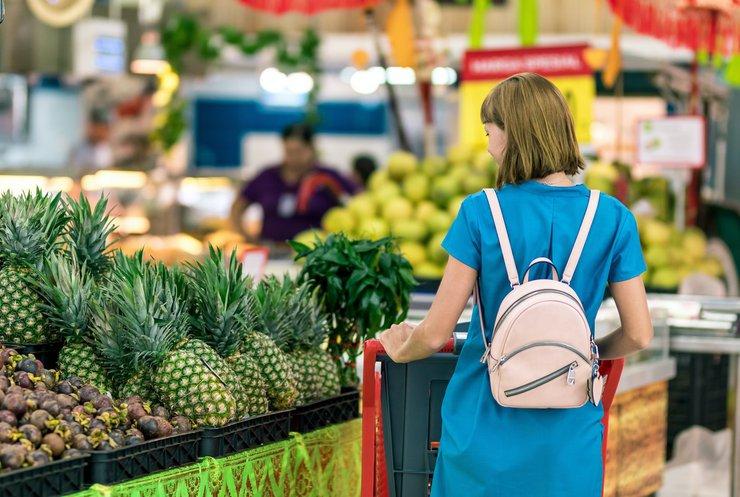 В Україні знизився попит на продукти харчування