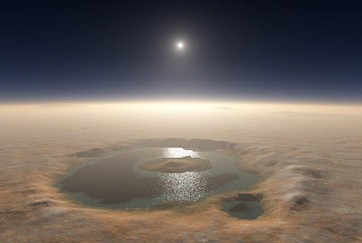 На Марсі знайшли солені озера