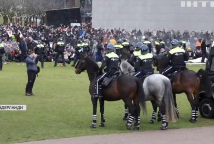 Протести у Нідерландах: жителі розпочали актикарантинний терор