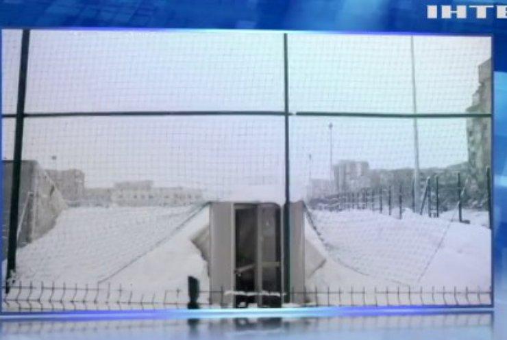 У Вільнюсі через снігопад обвалився дах футбольного стадіону