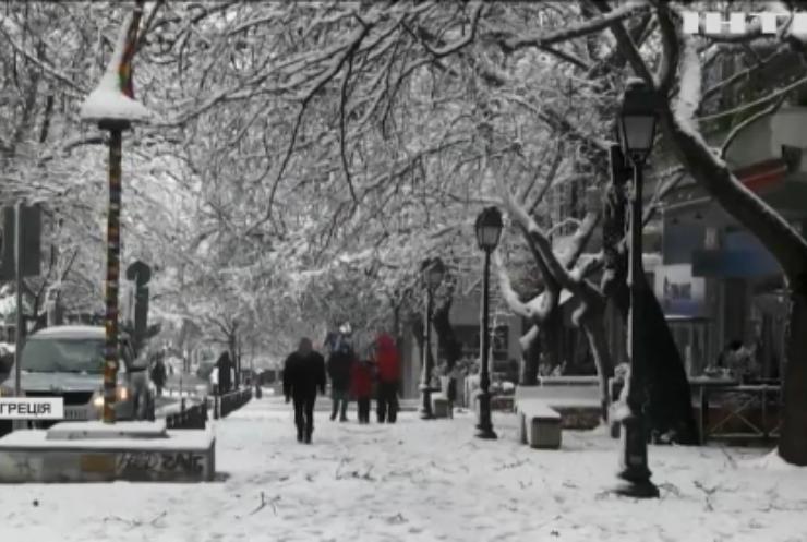 Греція потерпає від потужного сніжного циклону