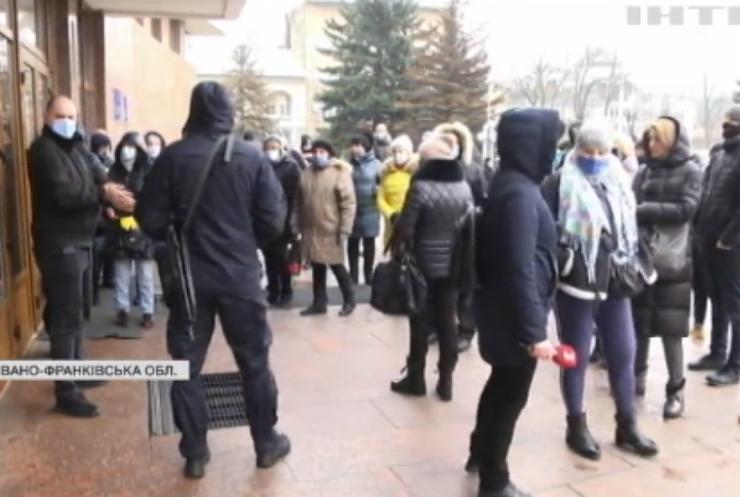 В Івано-Франківську ФОПівці протестують проти карантинних обмежень